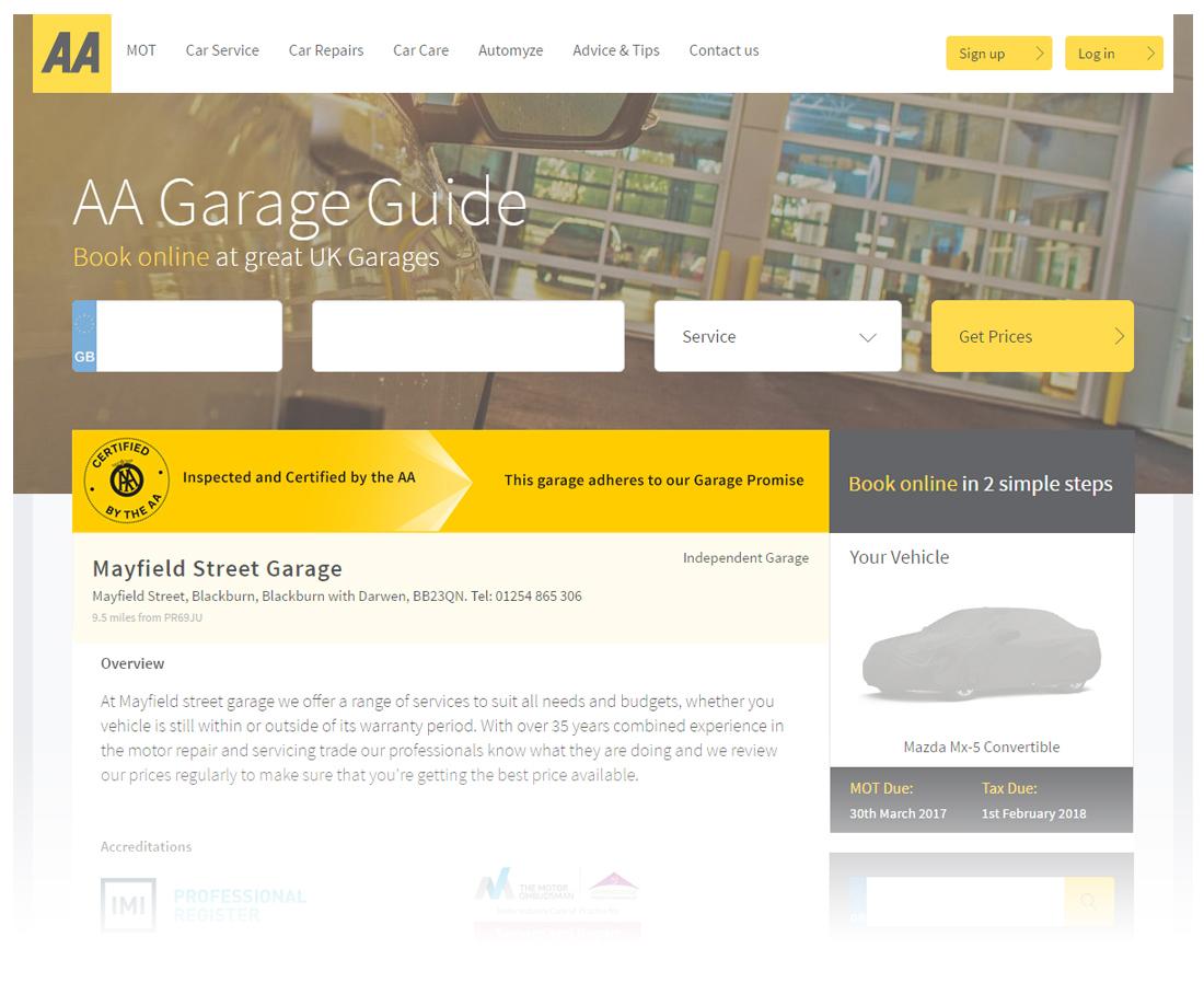 AA Certified Garage Premium Branding